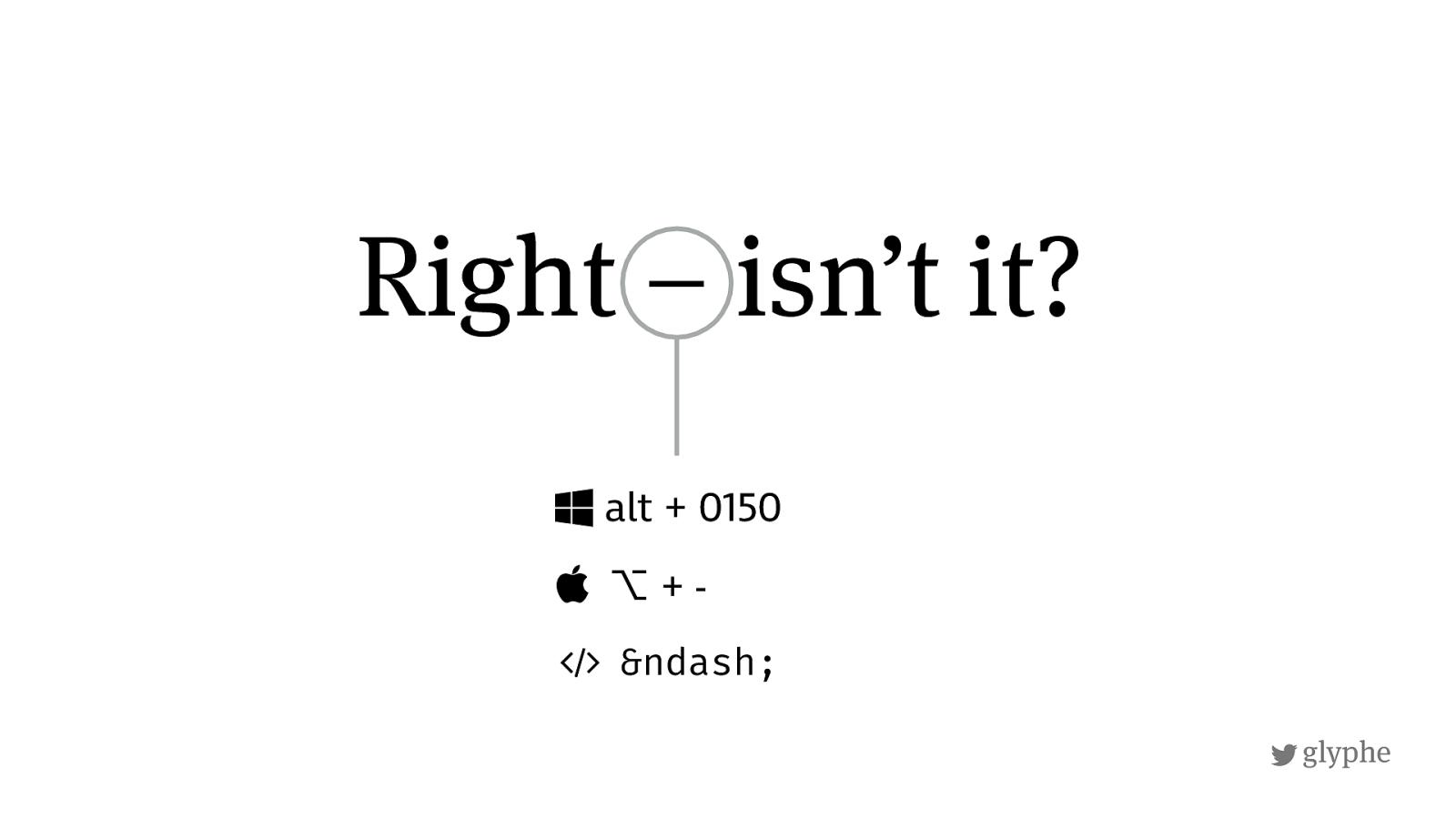 Em dash in Russian typography, Russian keyboard shortcut on Mac: alt + -