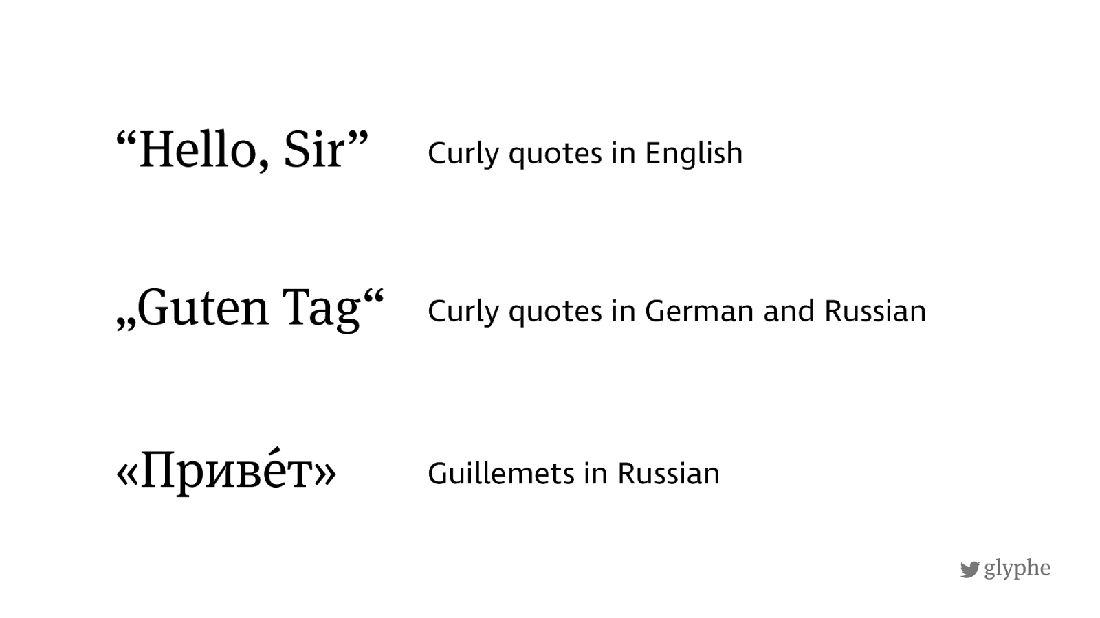 Curly quotes in English, German and Russian for nested quotes, Guillemets in Russian