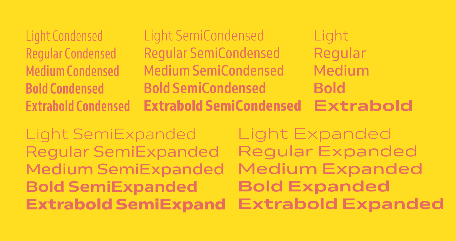 Venn by Dalton Maag is variable font that can generate a lot of different weights and widths.