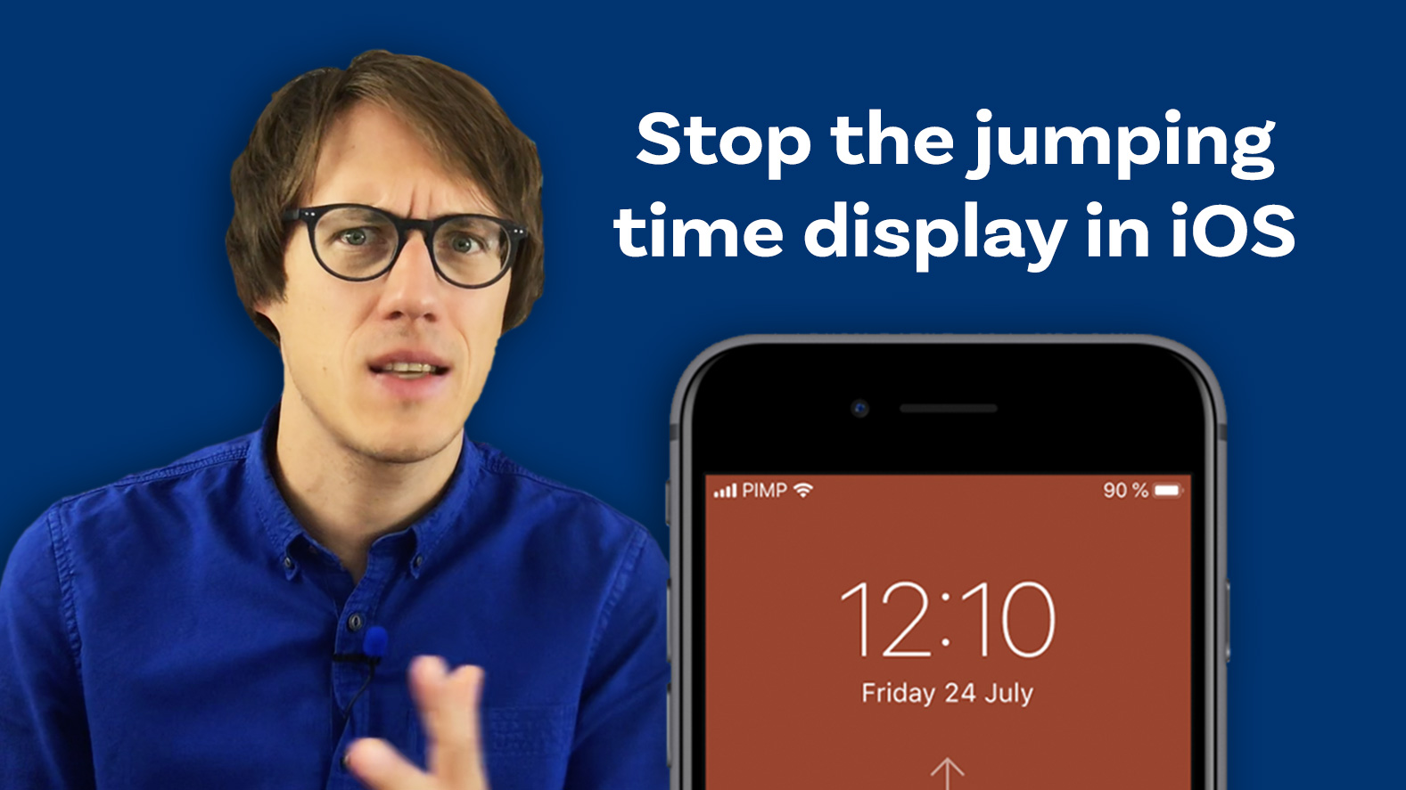 Stop the jumping time display in iOS