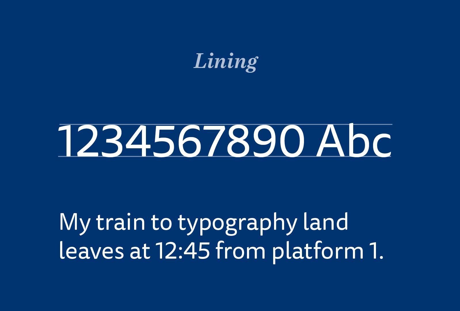 Lining figures