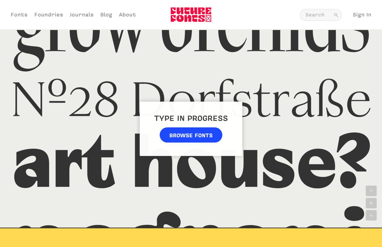 Future Fonts Type in Progress