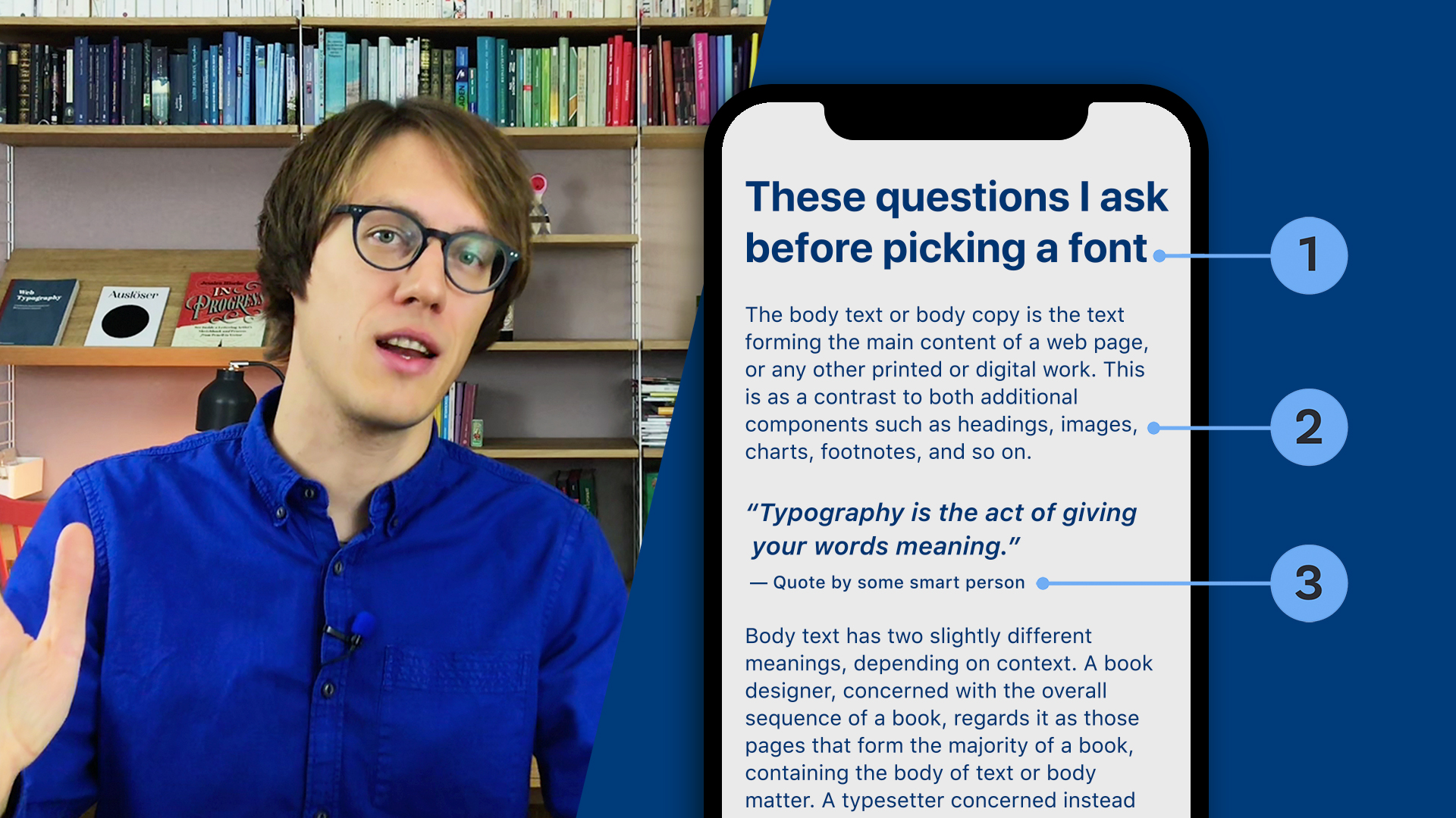 The different types of text – These questions I ask before picking a font