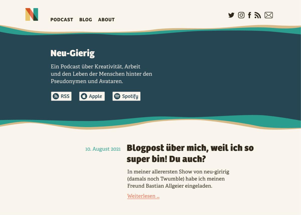 The pimped design of the Neu-gierig Blog