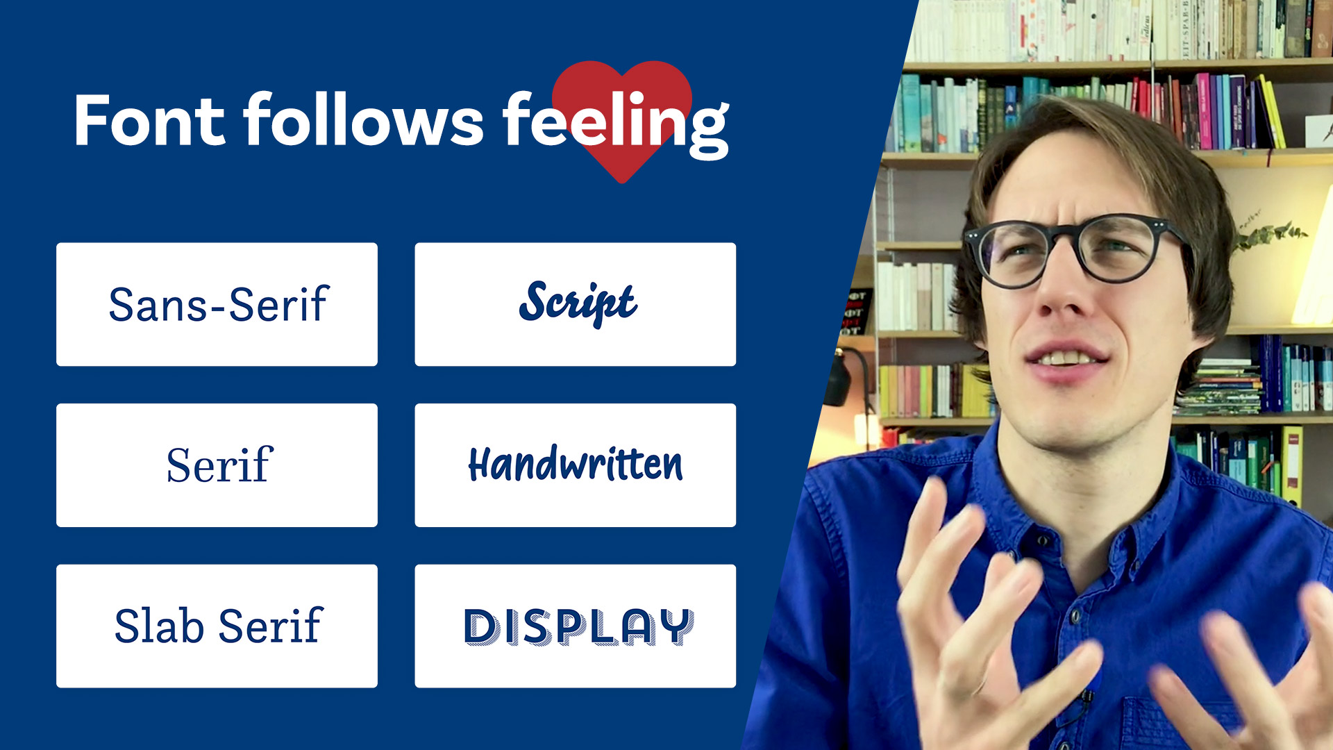 Font follows feeling