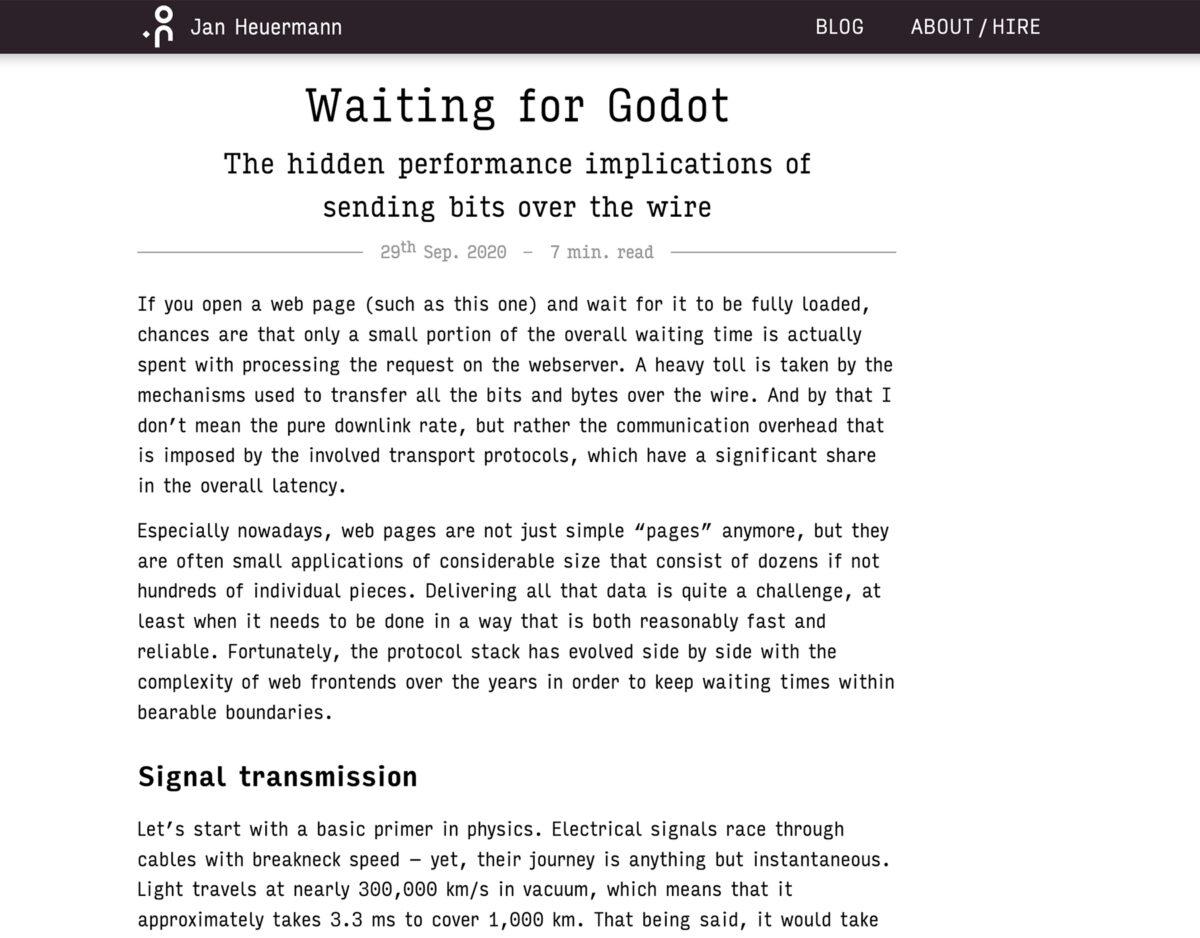 The original design of the Jan's Blog