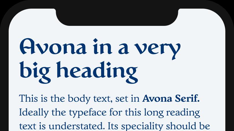 Avona & Avona Serif