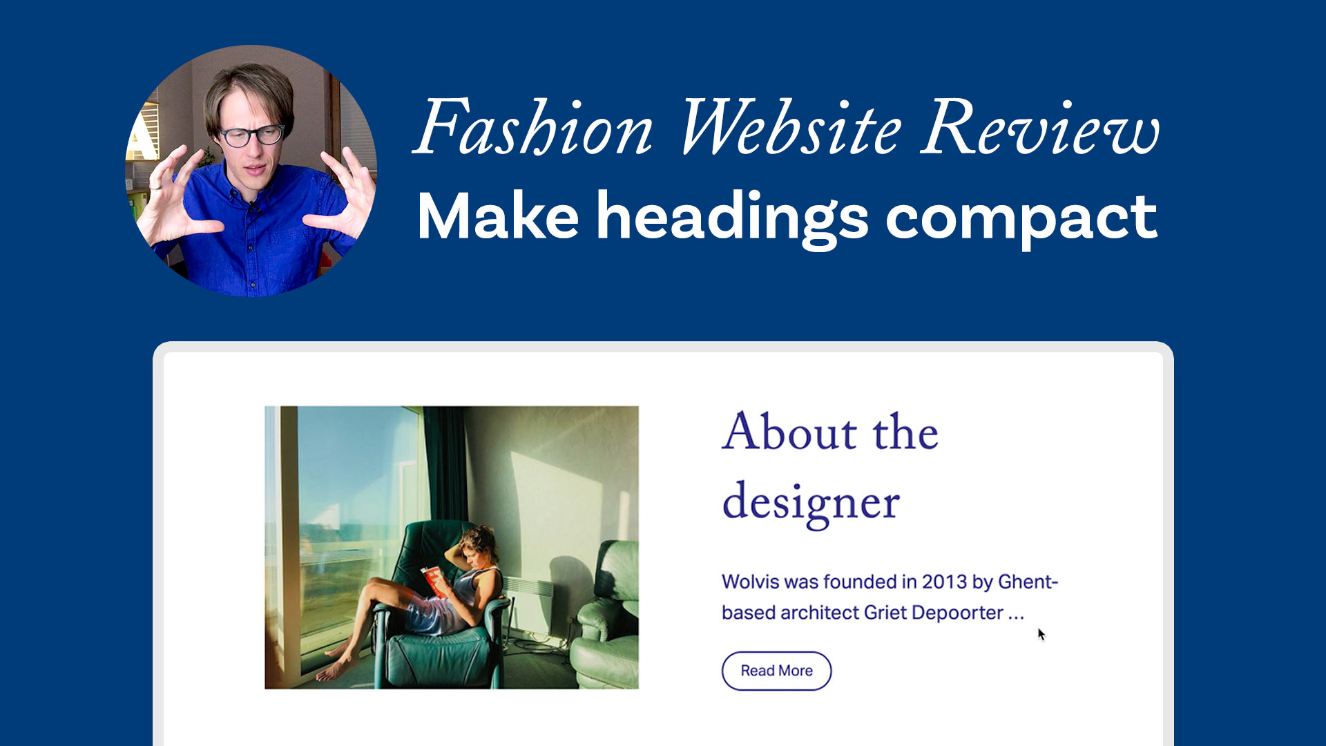 Fashion Website Review Make Headings compact