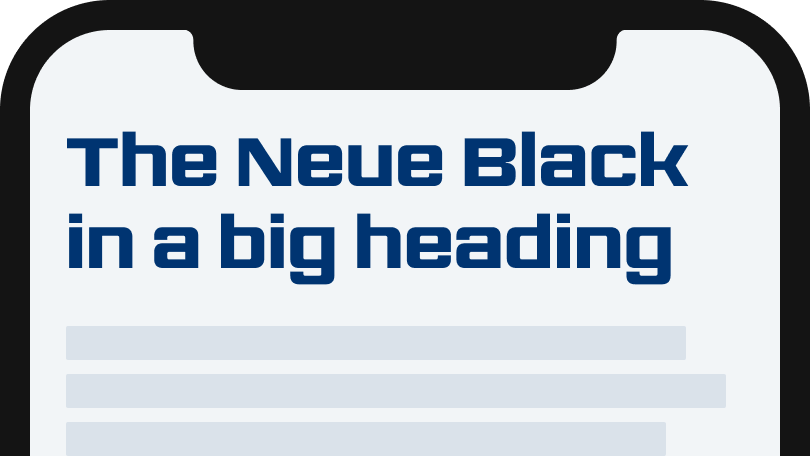The Neue Black