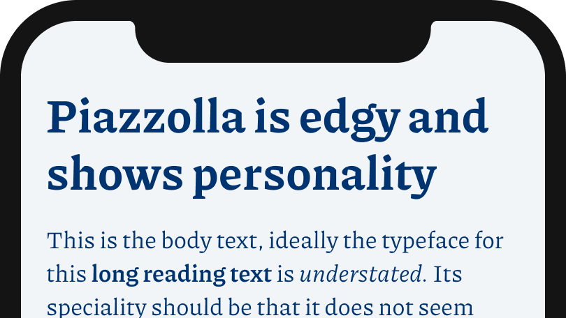 Piazzolla is edgy and shows personality