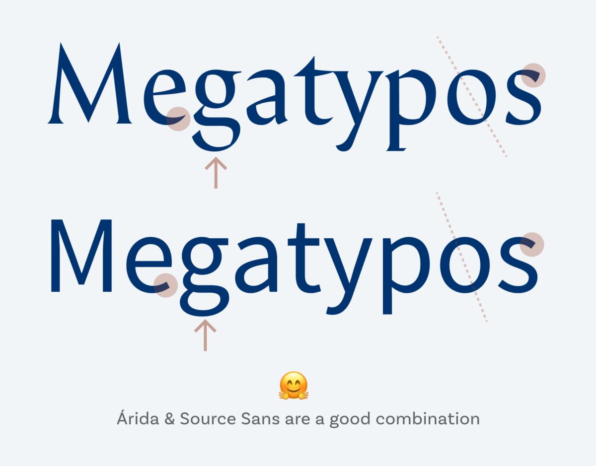 Árida & Source Sans are a good combination
