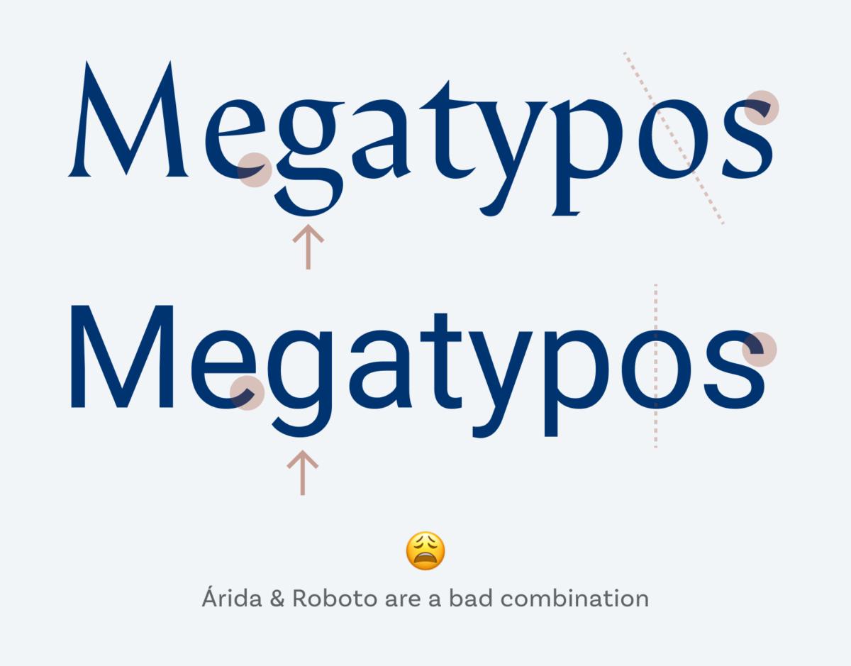 Árida & Roboto are a bad combination