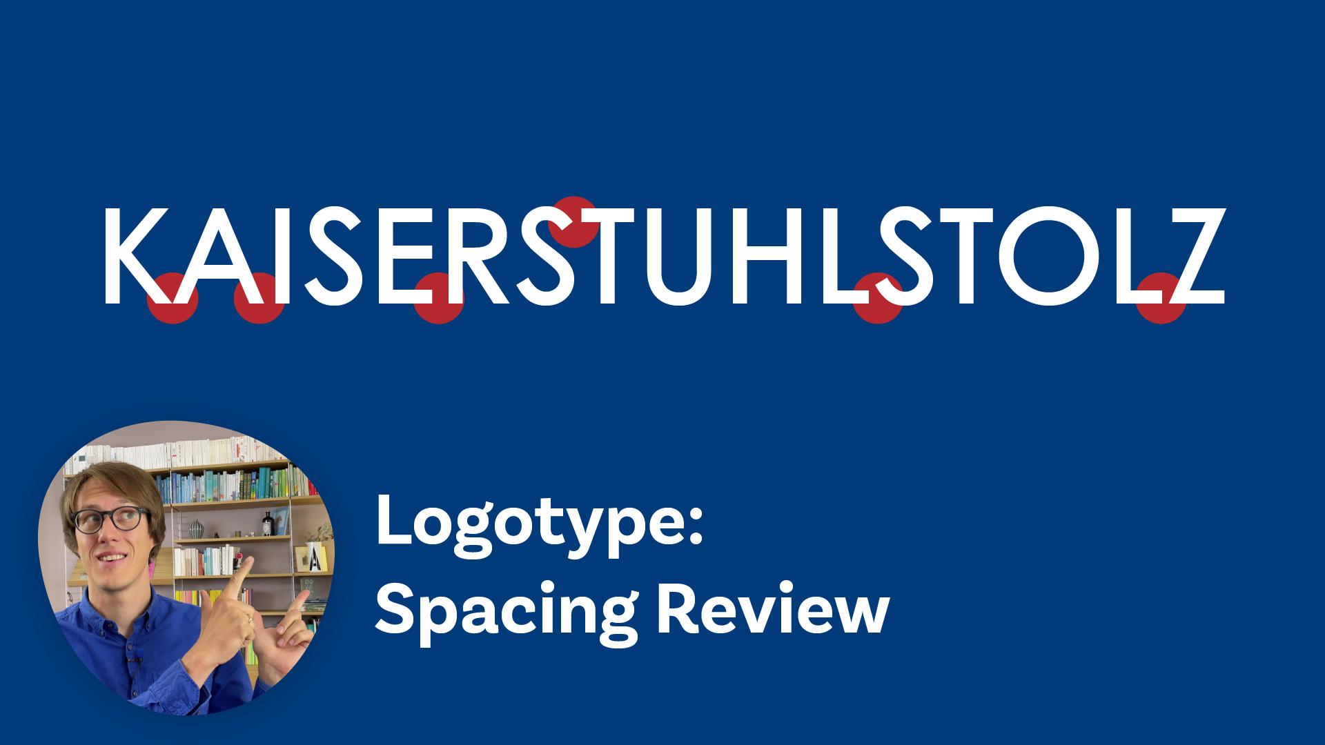 Logotype: spacing review
