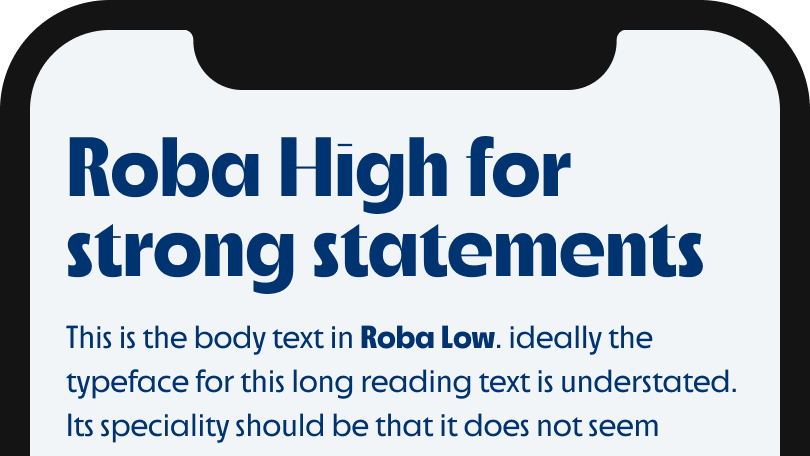 Roba High for strong statements