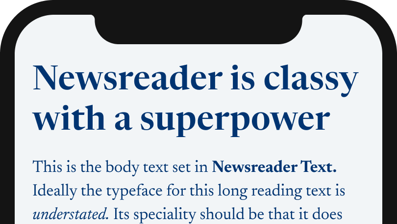 Newsreader is classy with a superpower