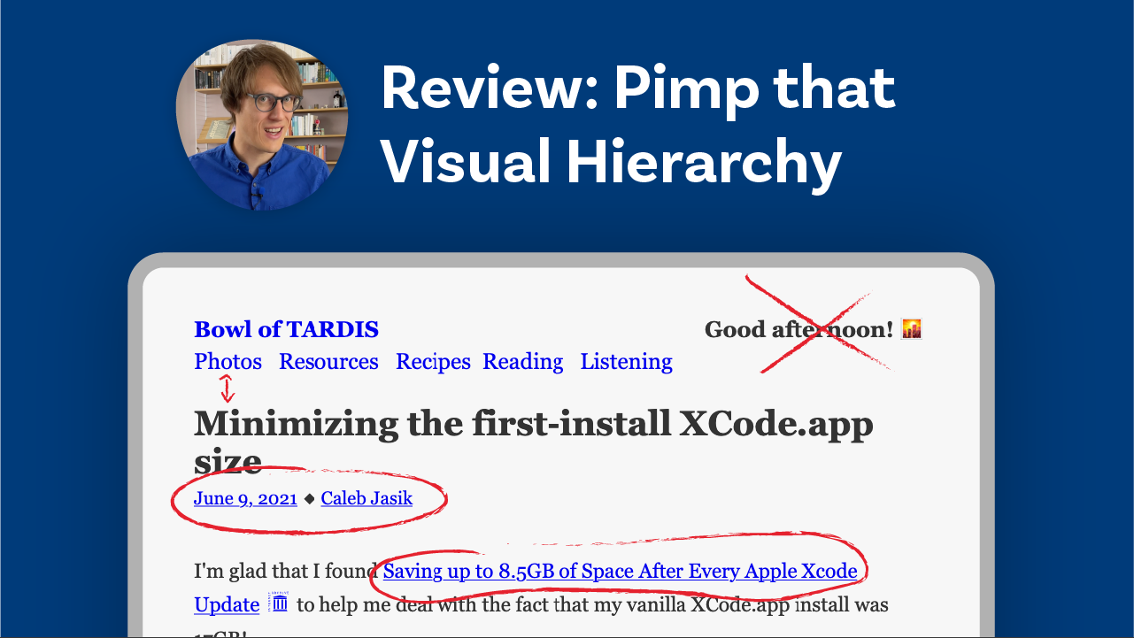 Review: Pimp that Visual Hierarchy